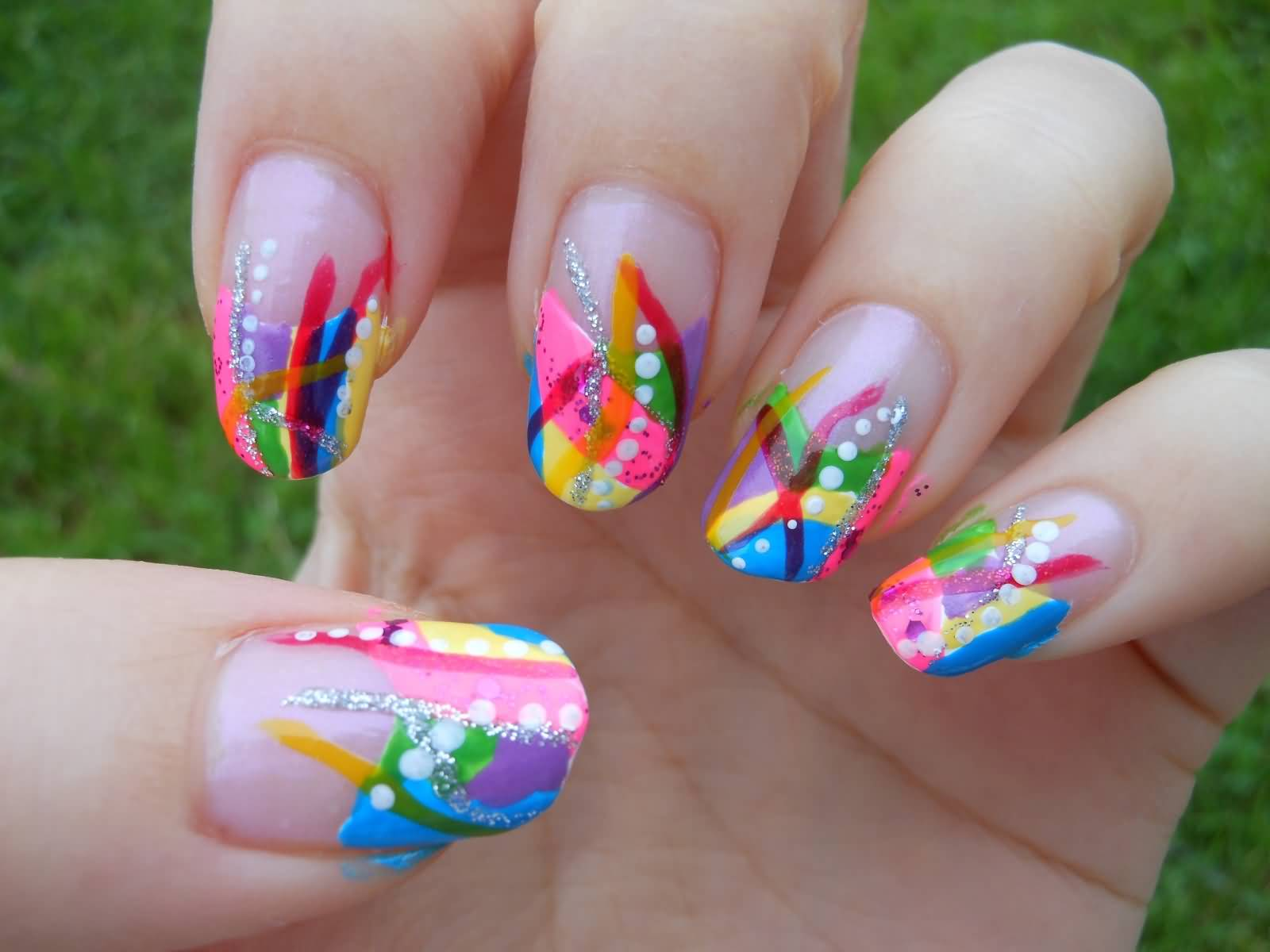 50 Latest Multicolor Nail Art Designs