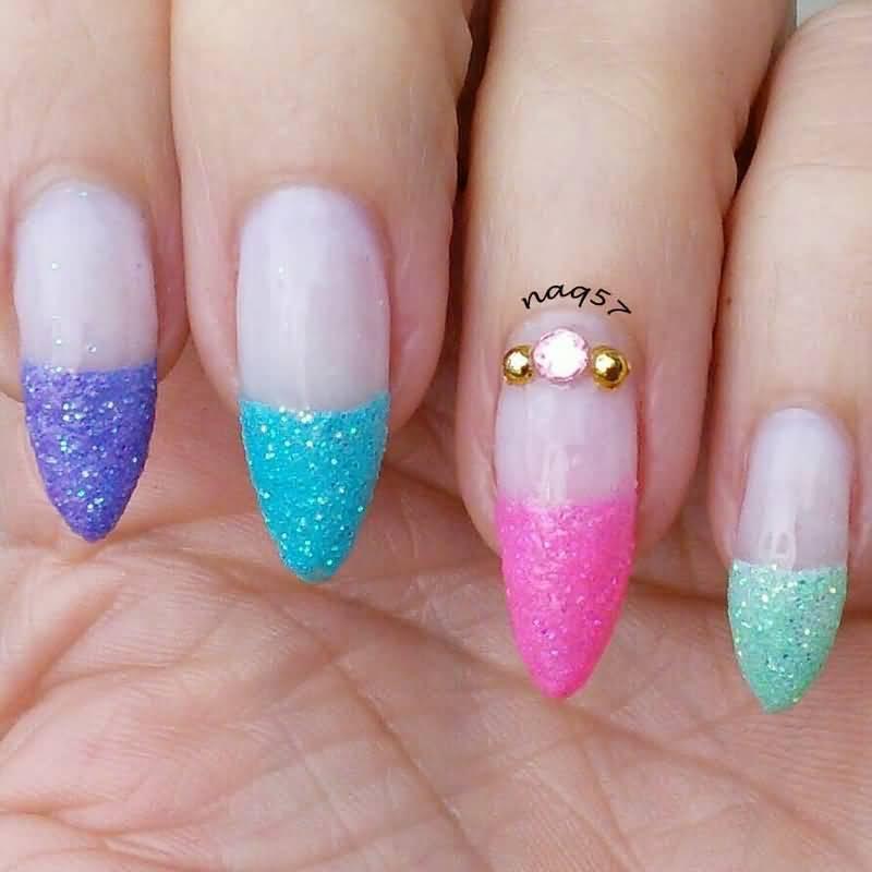 70 Most Beautiful 3d Nail Art Design Ideas For Trendy Girls: 45 Most Beautiful Multicolor Nail Art Design Ideas