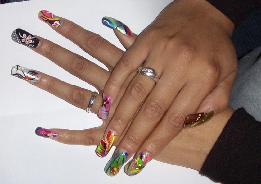 Multicolor Long Nails Design Idea - 50 Latest Multicolor Nail Art Designs