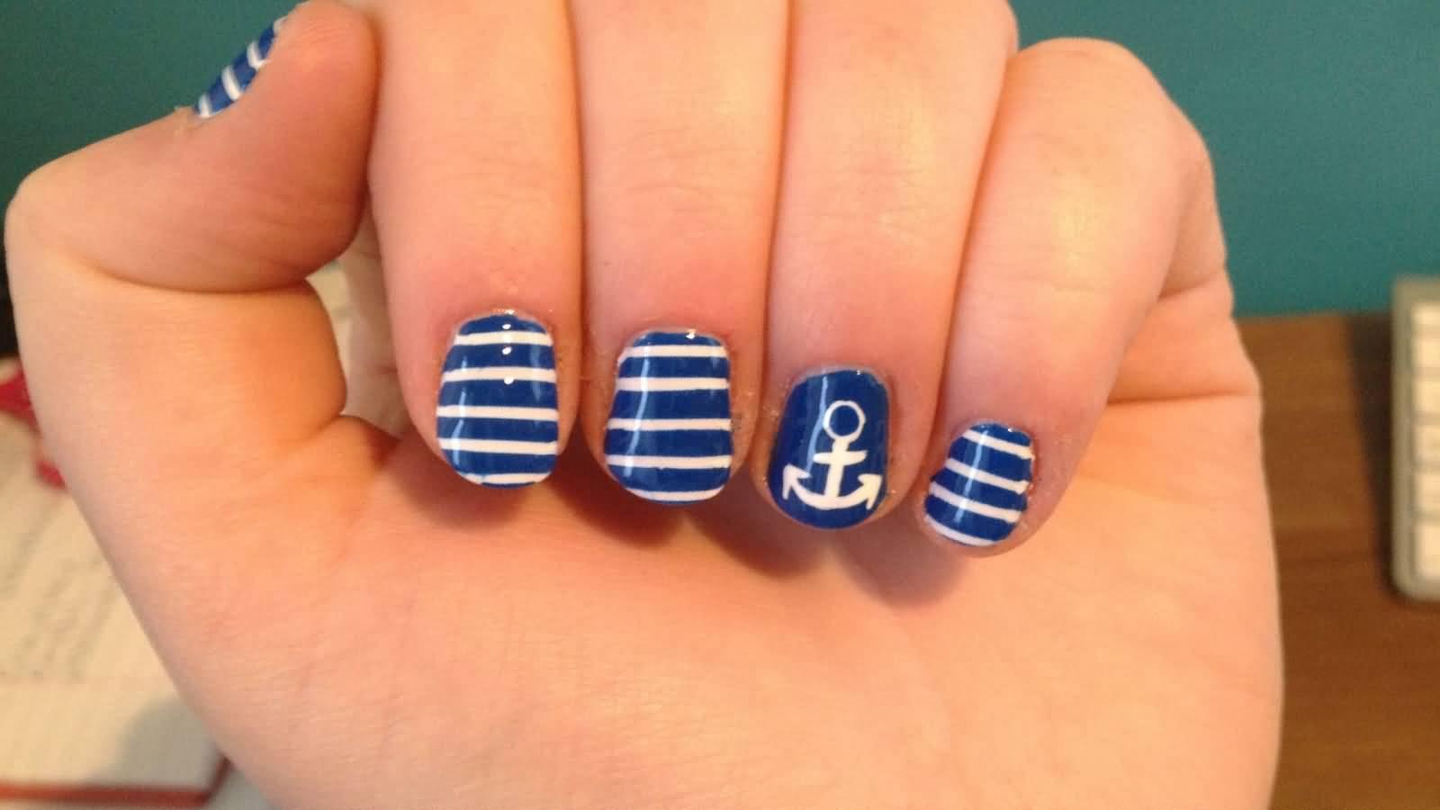 55+ Latest Stripes Nail Art Designs
