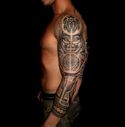 32 amazing tribal sleeve tattoos for Mens tribal sleeve tattoos