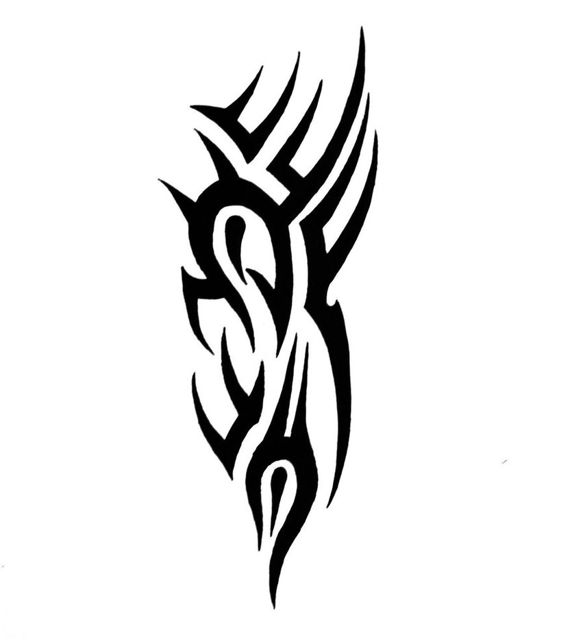 Simple tribal tattoo design by sorentalon for Simple tribal tattoo