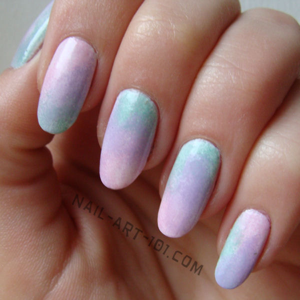Ombre Pastel Nail Art Design - 50+ Most Stylish Pastel Nail Art Designs For Trendy Girls