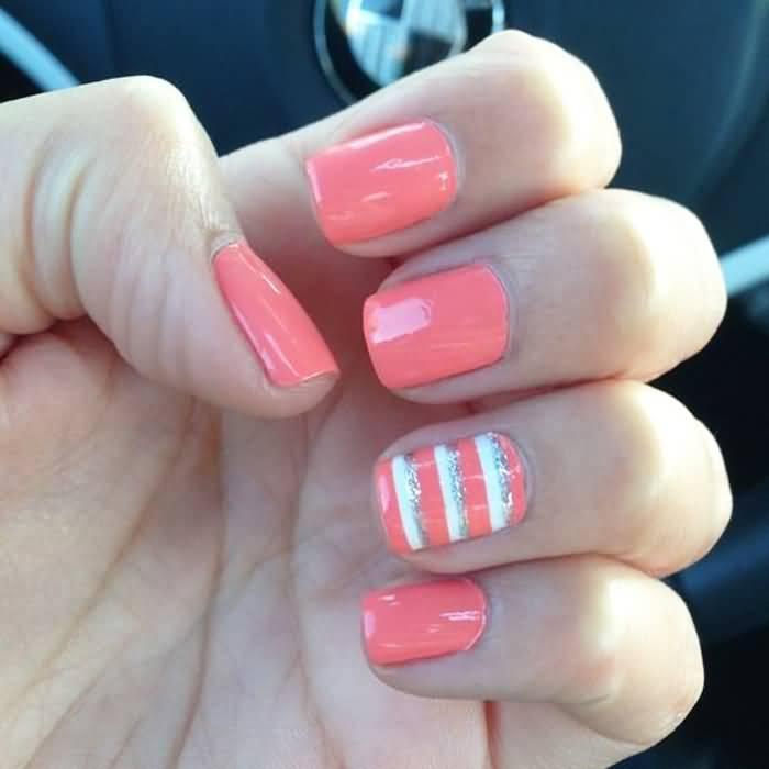 25+ Beautiful Stripes Design Nail Art Ideas