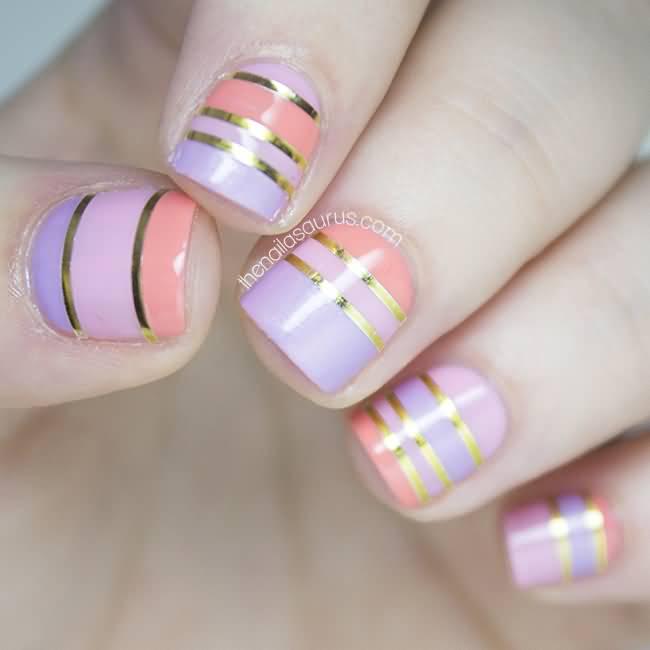 Stripe Nail Art: 55+ Latest Stripes Nail Art Designs