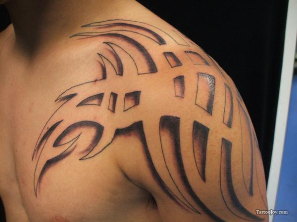 18 nice tribal shoulder tattoos. Black Bedroom Furniture Sets. Home Design Ideas