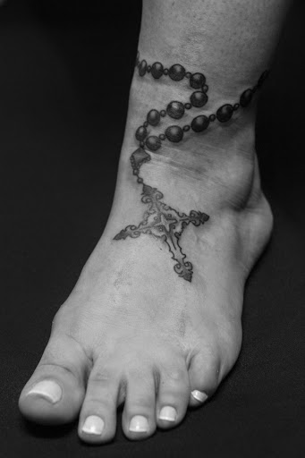 crown and cross catholic tattoo on right hand. Black Bedroom Furniture Sets. Home Design Ideas