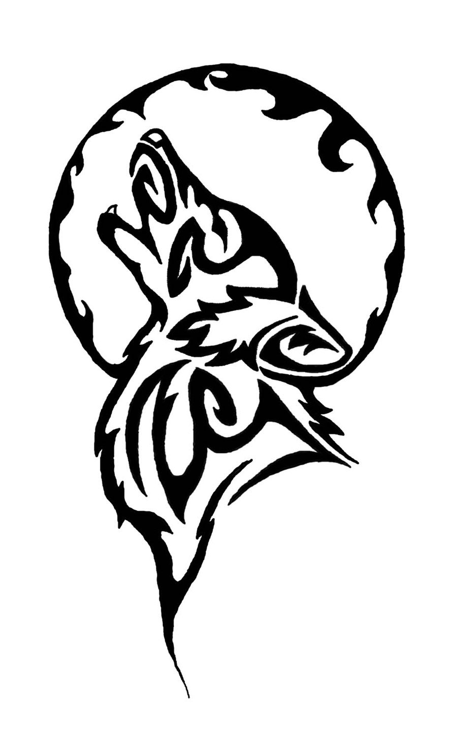 60 tribal wolf tattoos designs and ideas for Tribal wolf tattoo