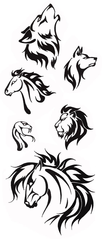 Simple Tribal Animal Tattoo Designs