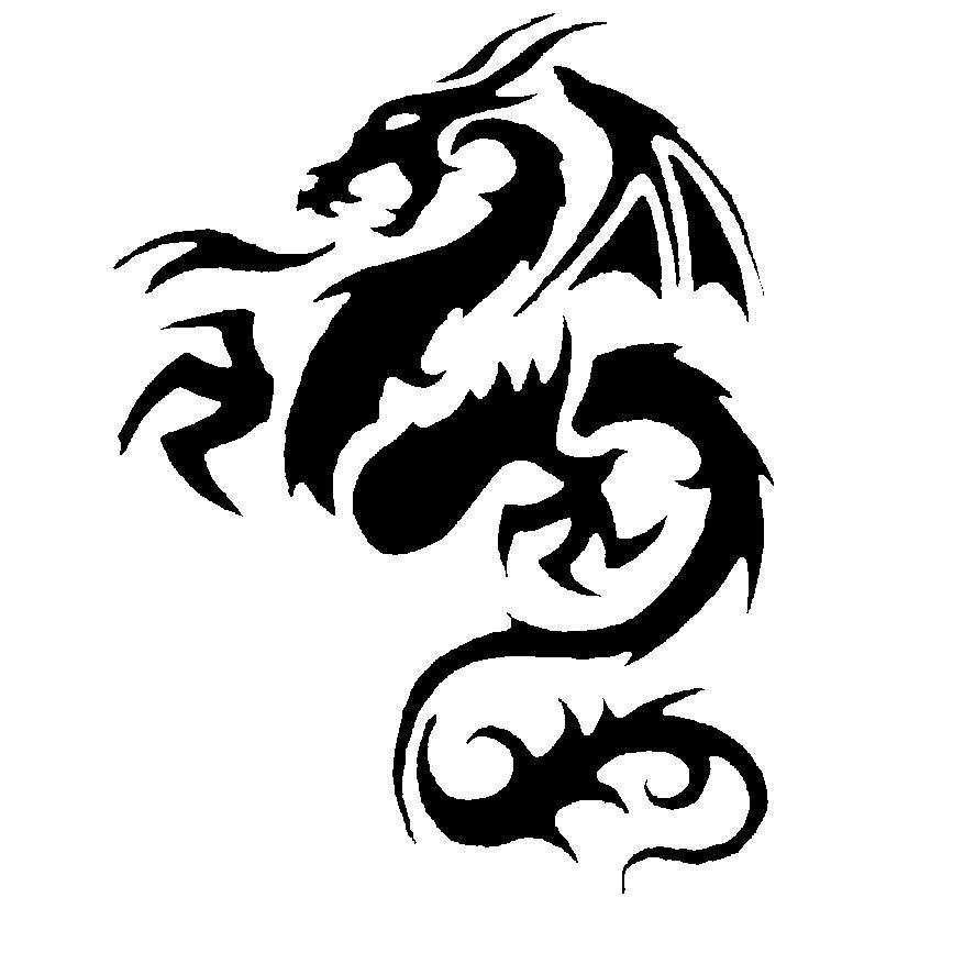 Tribal Tattoo Symbol: 52+ Latest Tribal Dragon Tattoos Designs