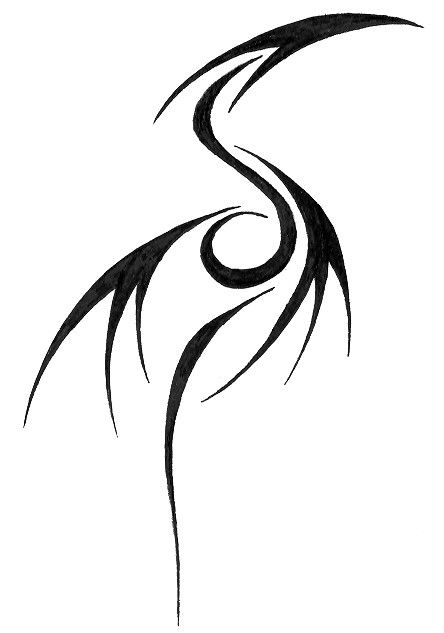 Cool Tribal Dragon Tat...