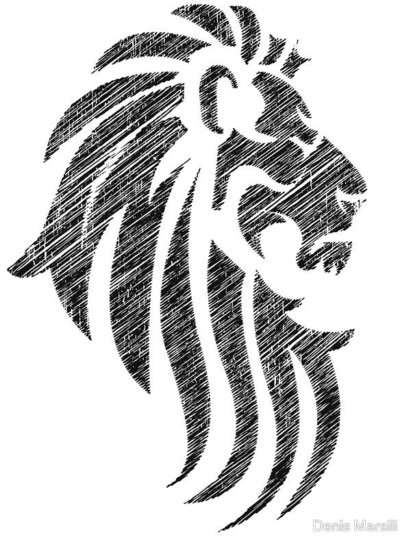 Simple Lion Face Tattoo Design