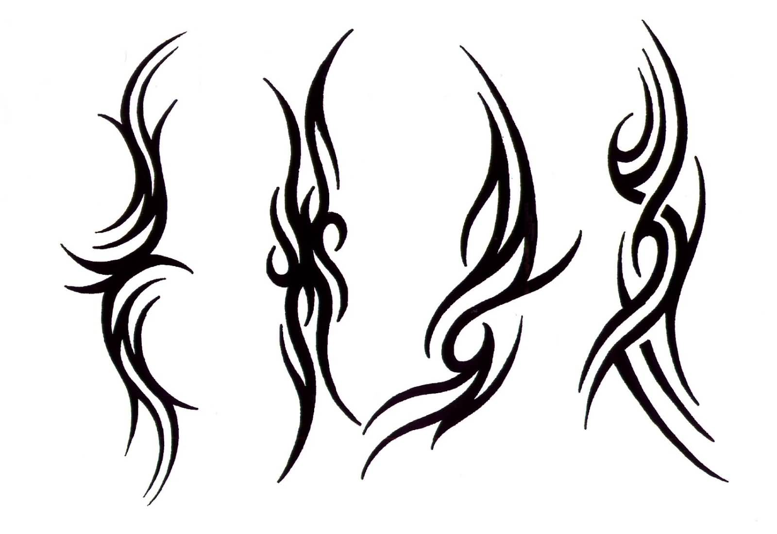 48 wonderful tribal tattoos for Easy tribal tattoos