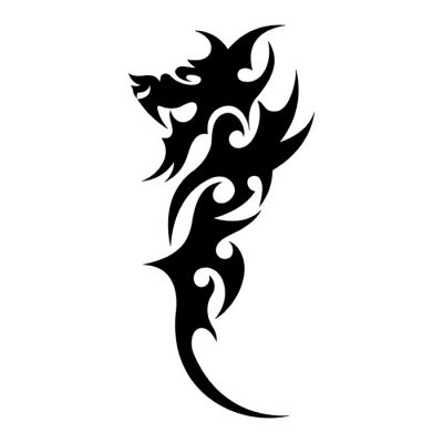32 simple tribal dragon tattoos. Black Bedroom Furniture Sets. Home Design Ideas