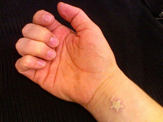 small white ink starfish tattoo on wrist. Black Bedroom Furniture Sets. Home Design Ideas