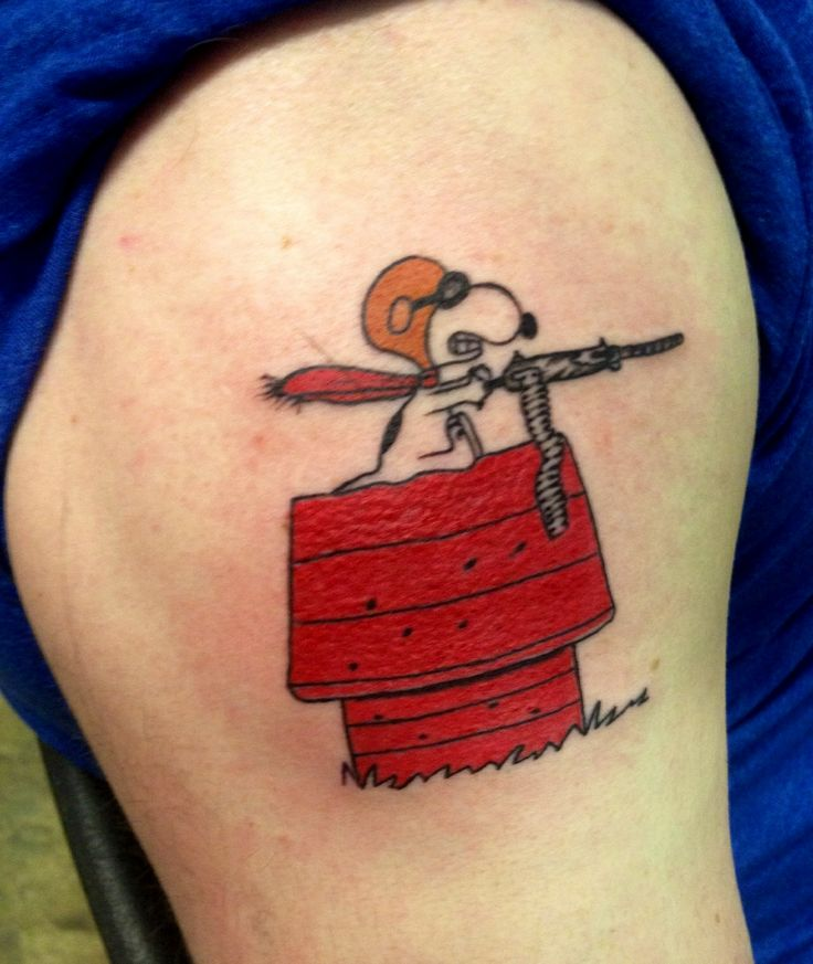 Colorful Charlie Brown And Snoopy Tattoo By Kiljun