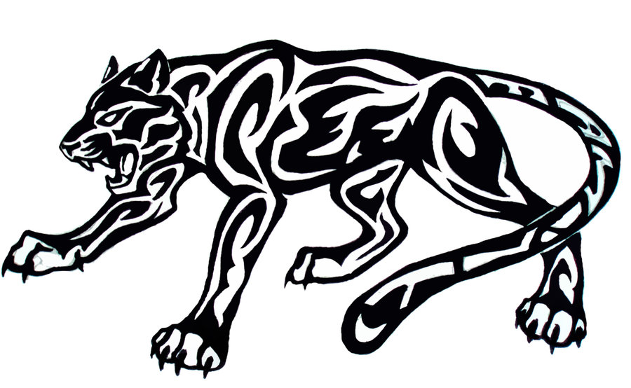 053e95193acf3 Terrific Angry Tribal Jaguar Tattoo Sample