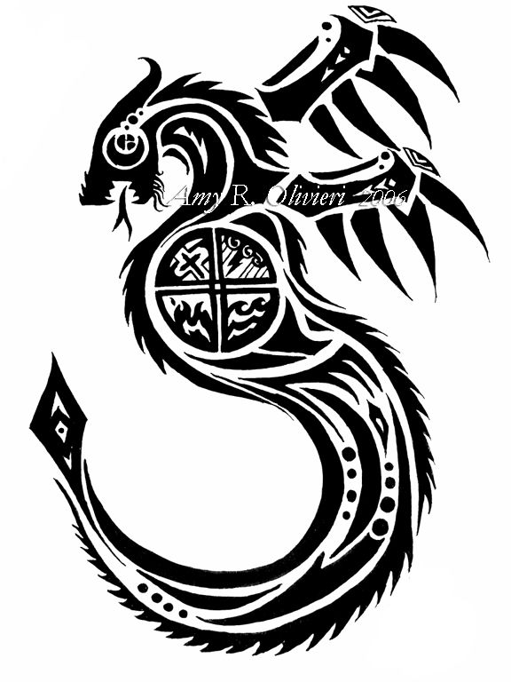 52 latest tribal dragon tattoos designs. Black Bedroom Furniture Sets. Home Design Ideas
