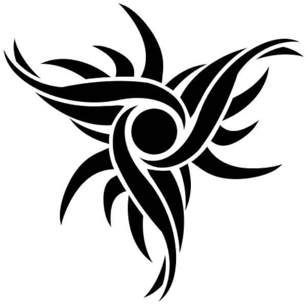 55 tribal sun tattoos collection. Black Bedroom Furniture Sets. Home Design Ideas
