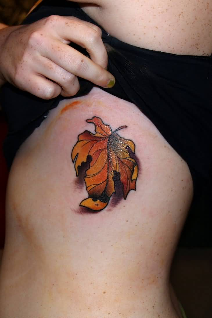 Watercolor Autumn Tree Tattoo