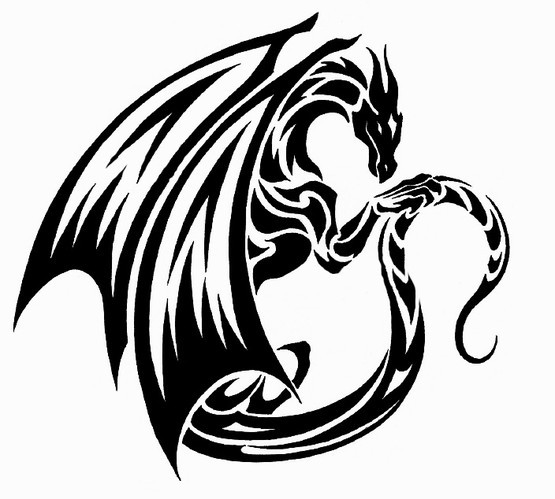 32 simple tribal dragon tattoos. Black Bedroom Furniture Sets. Home Design Ideas