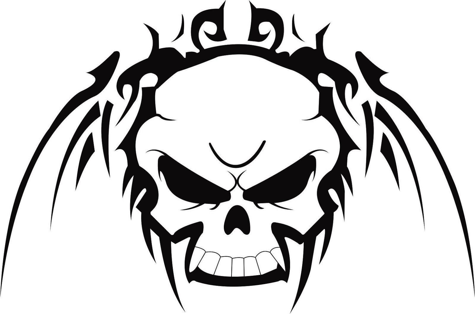 5f4f38ef8 Very Nice Tribal Skull Tattoo Design