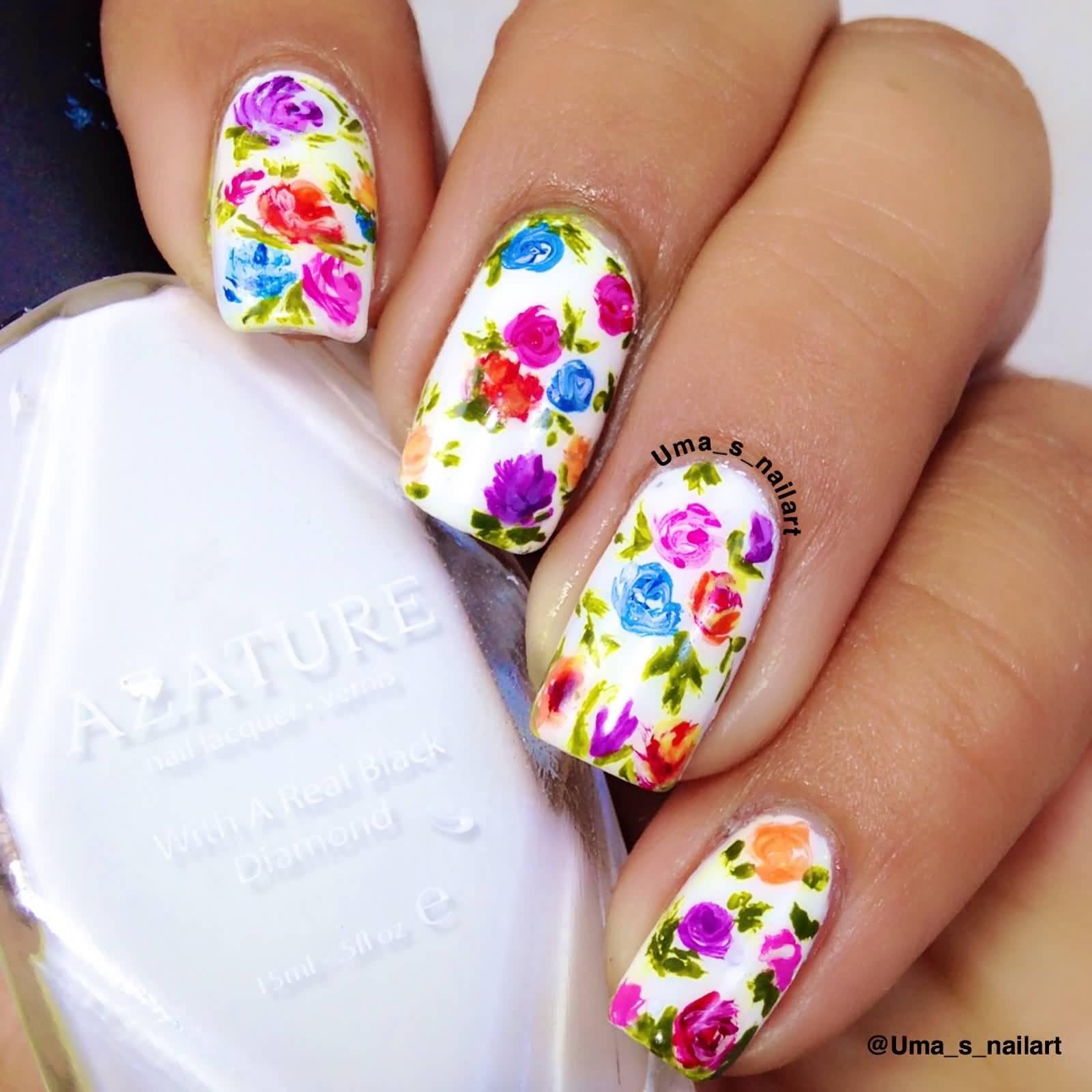 45 Most Beautiful Multicolor Nail Art Design Ideas