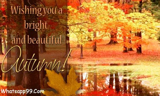 Wishing You A Bright And Beautiful Autumn Wish Picture