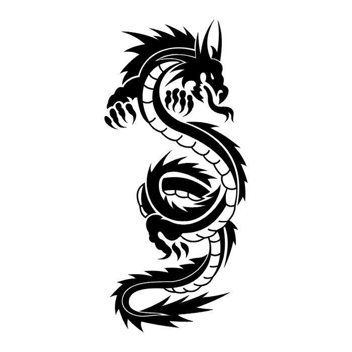 52 latest tribal dragon tattoos designs. Black Bedroom Furniture Sets. Home Design Ideas