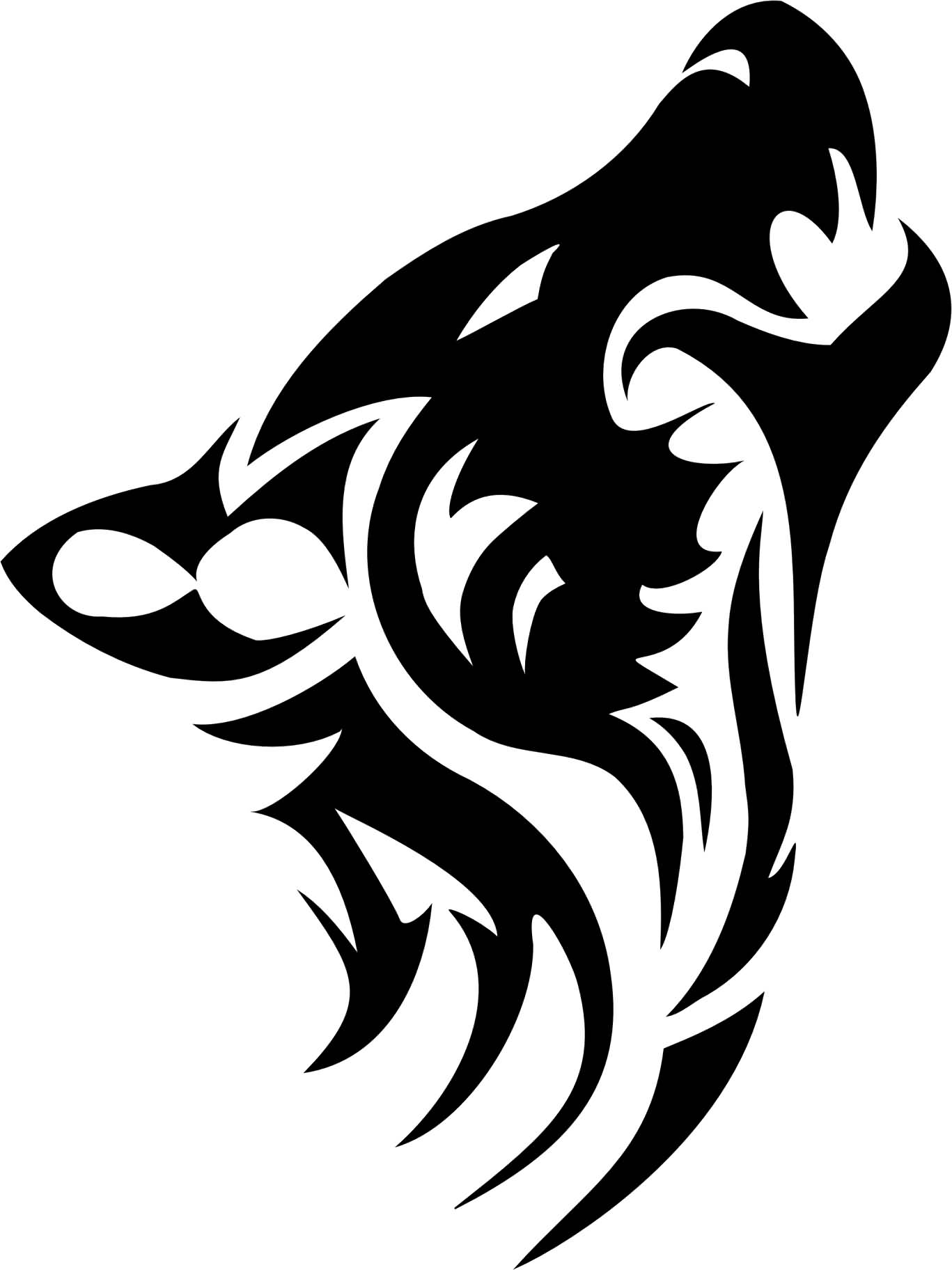 25 tribal animal tattoo designs for Tribal wolf tattoo