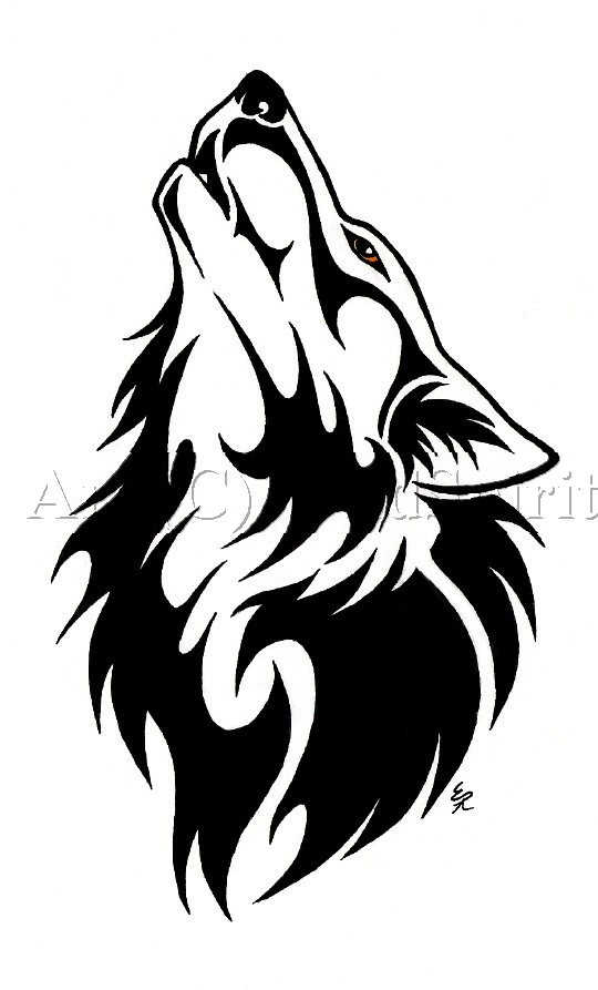 Tribal Wolf Tattoo Outline 60 Tattoos Designs And Ideas