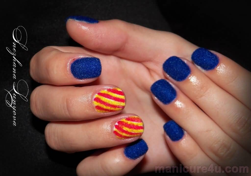 55+ Latest Stripes Nail Art Designs