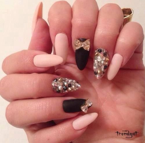 3d bow and caviar beads nail art prinsesfo Choice Image