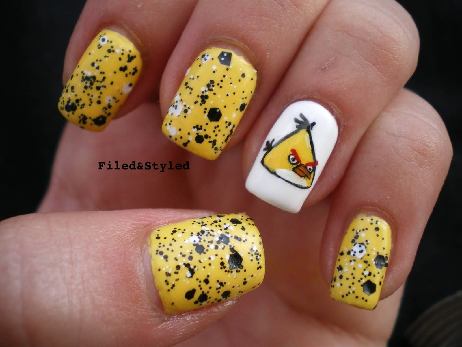 Fashion week 22 angry images birds nail art designs for girls