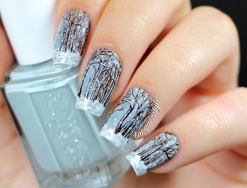 40 Latest Winter Nail Art Designs