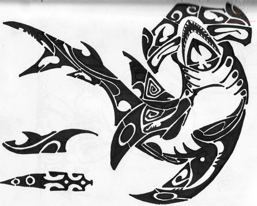30 awesome hammerhead shark tattoo designs. Black Bedroom Furniture Sets. Home Design Ideas