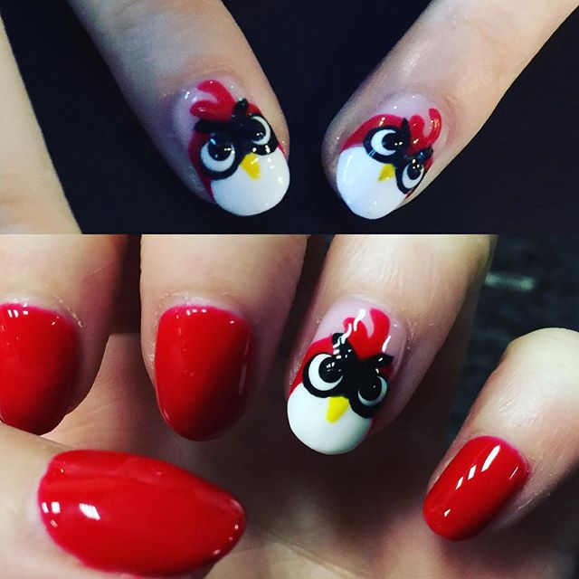 Angry Birds Nail Art Tutorial Design