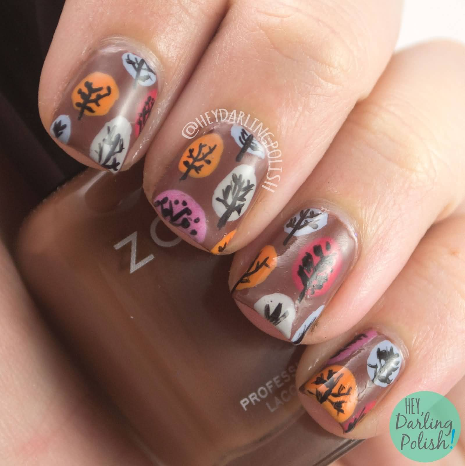 Autumn Nail Art For Short Nails Nailarts Ideas - Fall Nail Designs For Short Nails Best Nail Designs 2018