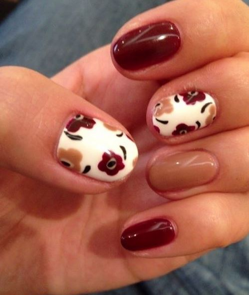 50 Most Beautiful Autumn Nail Art Designs