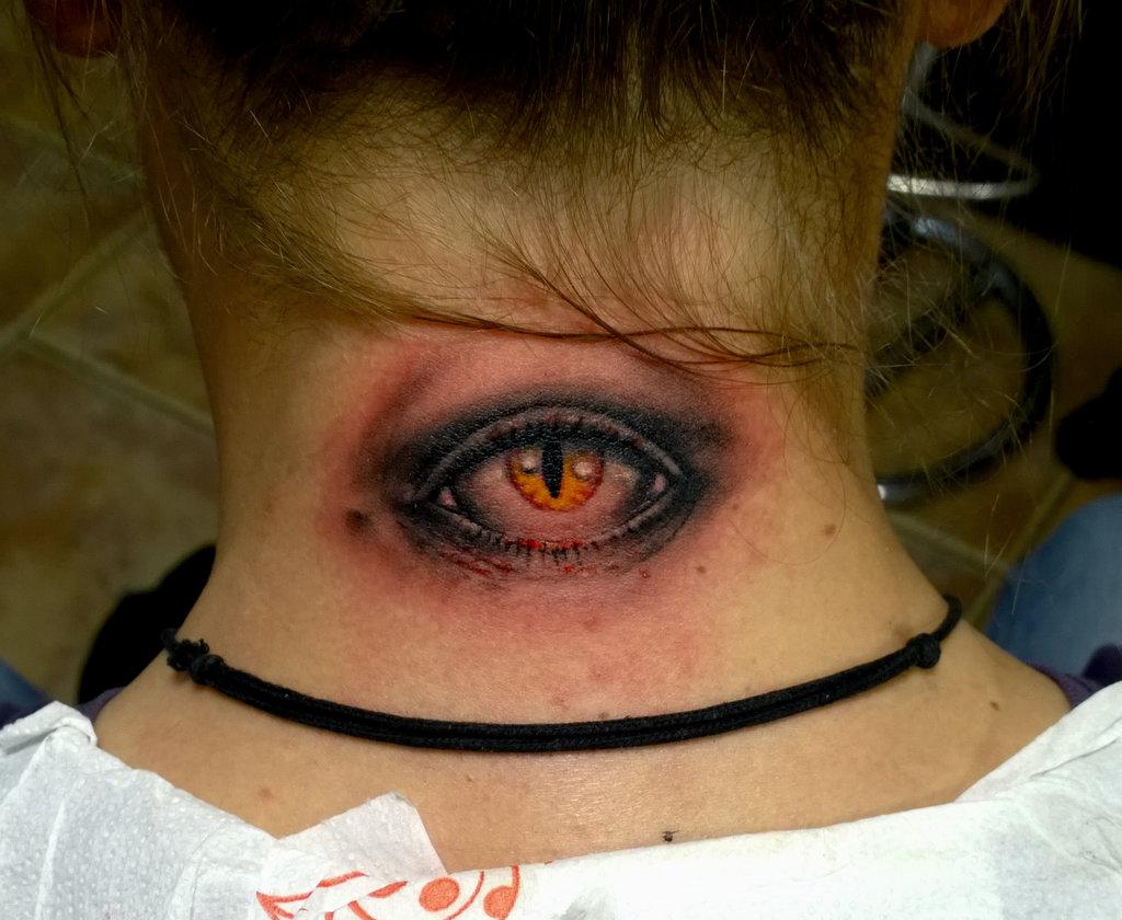 51 evil eye tattoos for Cross tattoo under eye