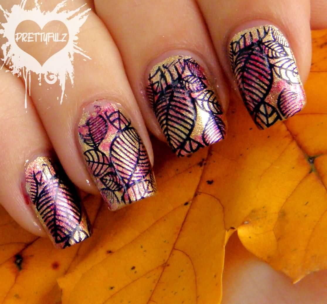 Gorgeous Autumn Inspired Nails: 50 Best Nail Art Design Ideas For Autumn