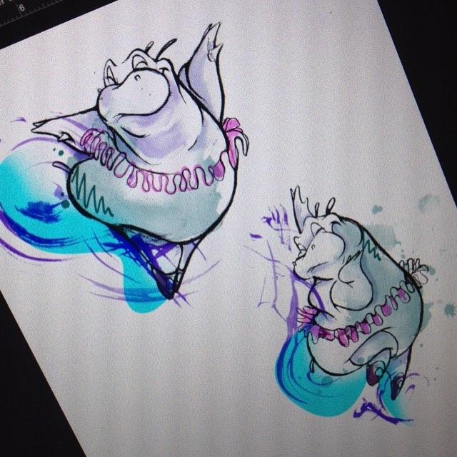 12 nice hippo tattoo designs