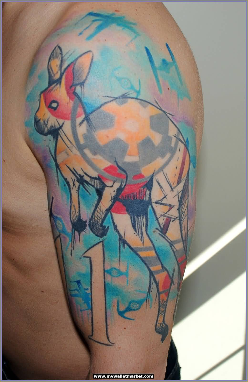australian kangaroo tattoos images galleries with a bite. Black Bedroom Furniture Sets. Home Design Ideas