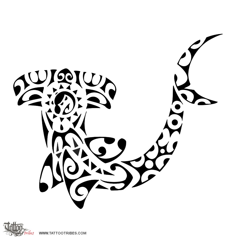 30 awesome hammerhead shark tattoo designs beautiful tribal maori hammerhead shark tattoo stencil buycottarizona Choice Image