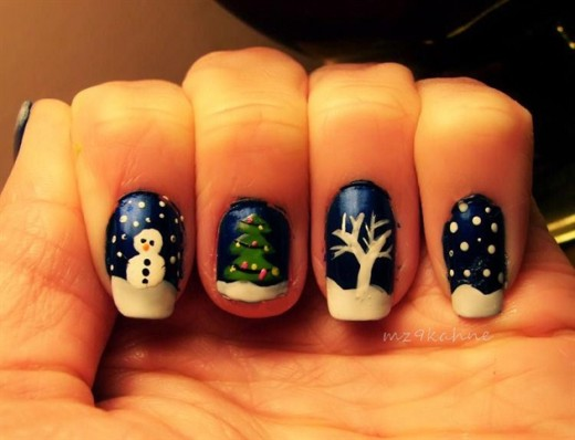 60 best winter nail art design ideas for trendy girls beautiful winter nail art prinsesfo Image collections