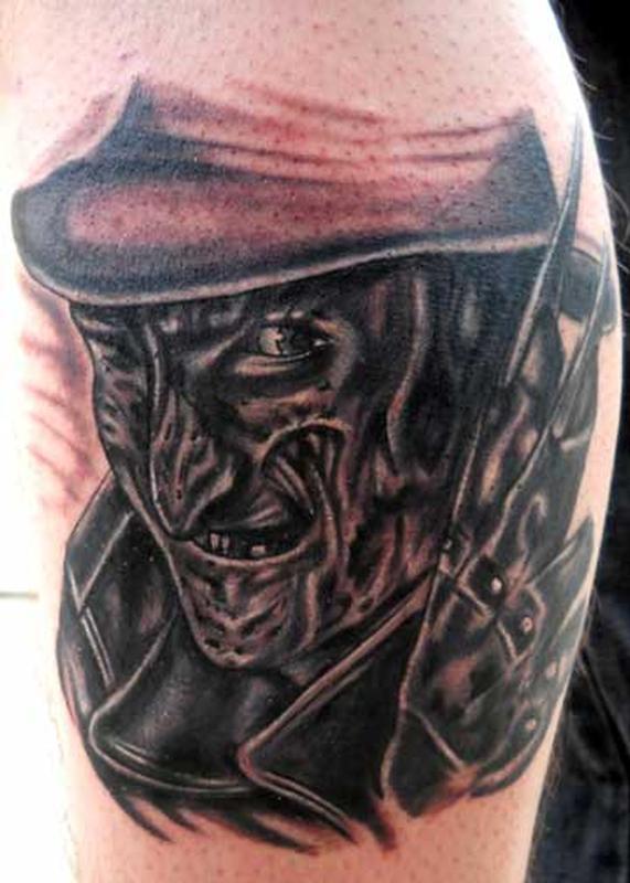 0c8b345ae Black Ink Smiling Scissoring Fingers Tattoo