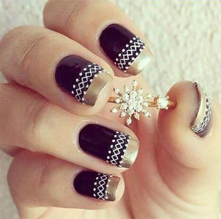 40 latest winter nail art designs