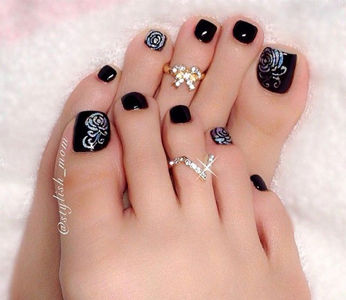 Toe nail art pictures best nails 2018 55 latest toe nail art designs prinsesfo Image collections