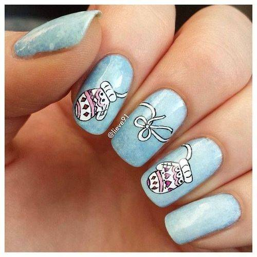61 latest nail art design ideas for winter. Black Bedroom Furniture Sets. Home Design Ideas