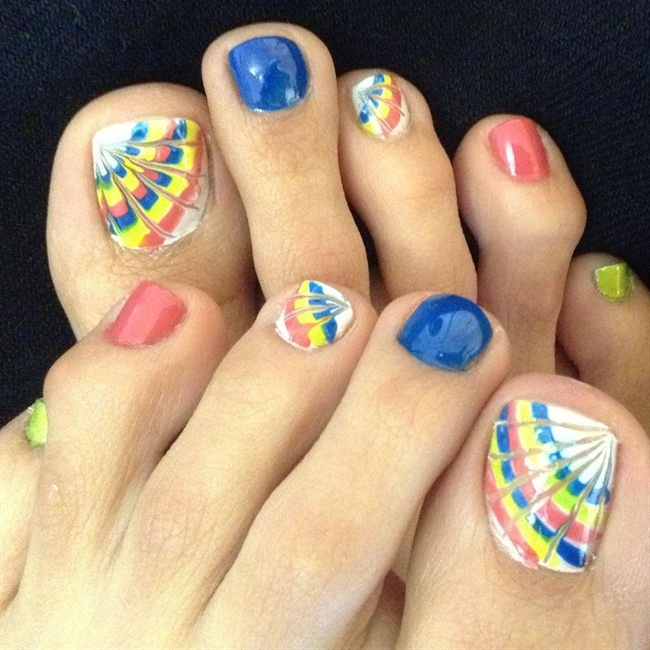50 best toe nail art design ideas for girls butterfly wings toe nail art design idea prinsesfo Choice Image